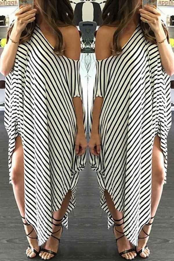 Striped Tent Dress