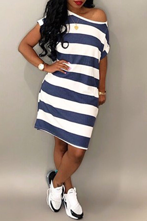 Nautical Stripe Tee Dress