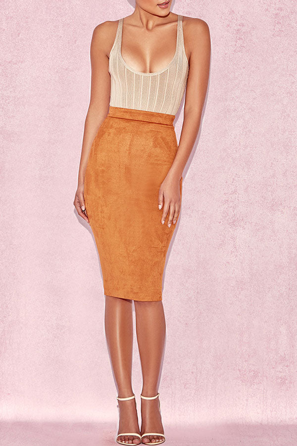 High Waist Half-Length Skirt