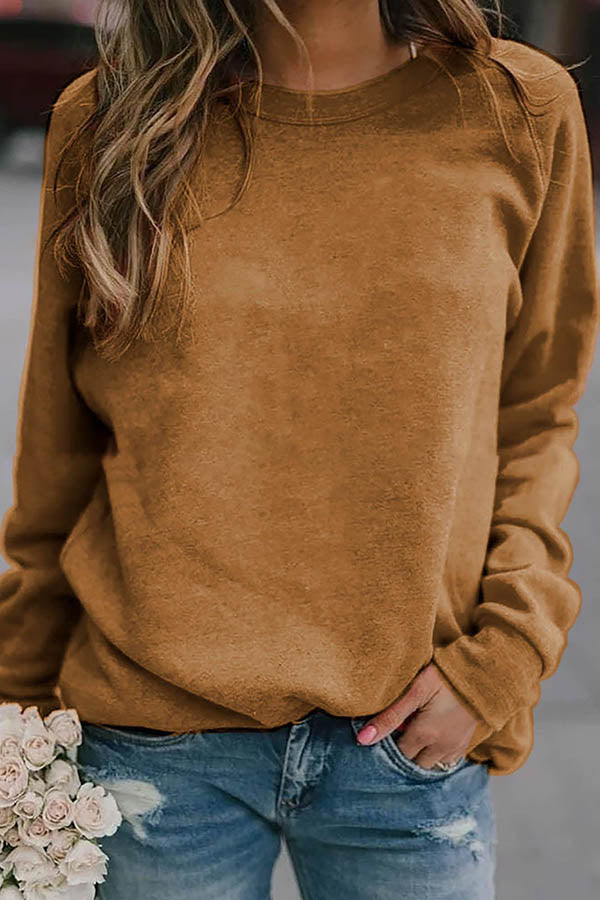 Solid Color Round Collar Top