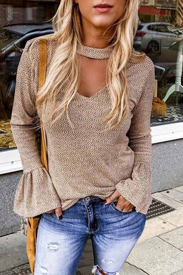 Slim Flare Sleeve Top