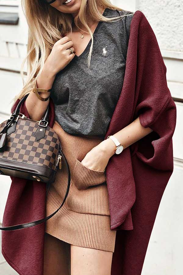 Solid Color Loose Coat