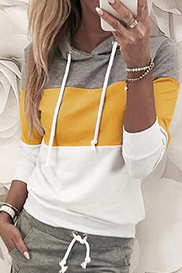 Collision Color Hoodies Two Piece Set