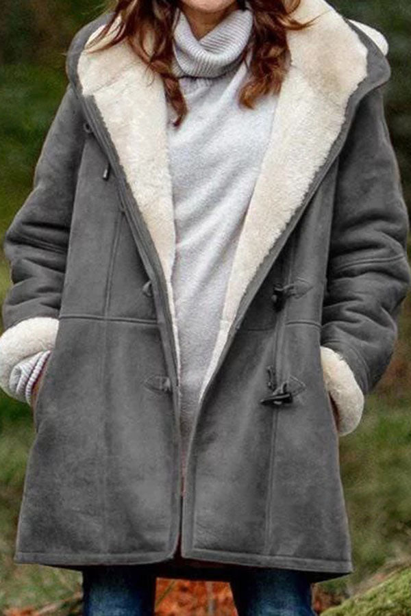 Plush Long Cap Coat