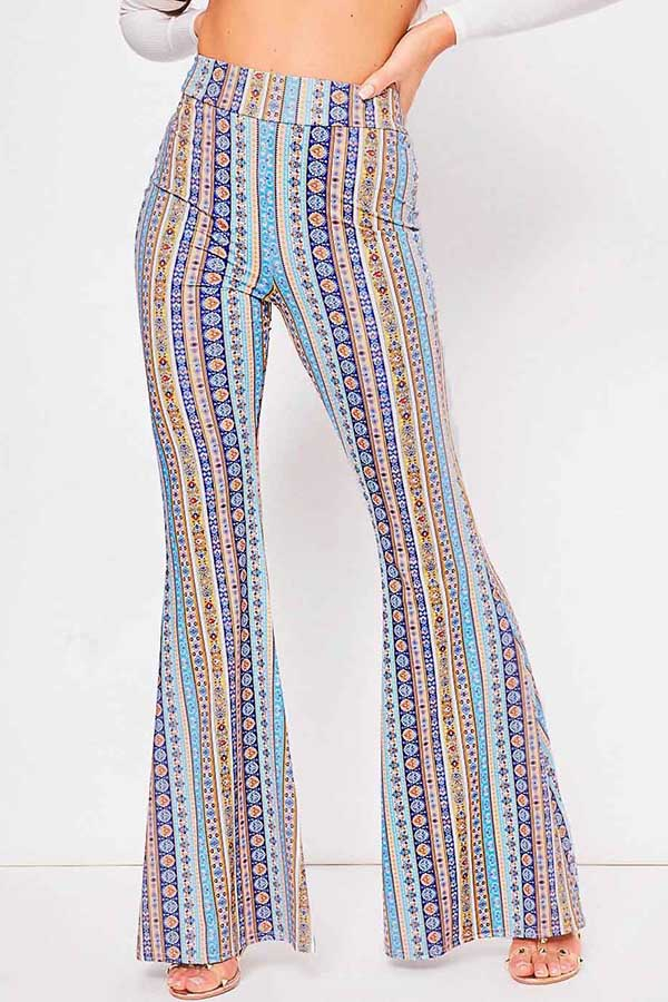 Special Striped Printed Pants