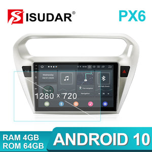 Isudar Voice control PX6 Android 10 1 Din Auto Radio For Citroen/Elysee/Peugeot 301 2013-2019 - SEO Optimizer Test