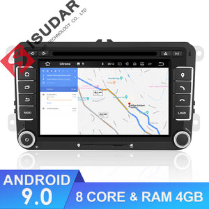 ISUDAR 2 Din Auto Radio Android 9 Octa core For VW/Volkswagen/POLO/Golf/Skoda/Octavia/Seat/Leon - ISUDAR Official Store