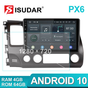 Isudar Voice control PX6 Android 10 Auto Radio For Honda Civic 2006 2007 2008-2012 - SEO Optimizer Test