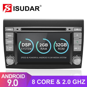 Isudar T8 2 Din Auto Radio Android 9 For Fiat/Bravo 2007 2008 2009 2010 2011 - ISUDAR Official Store