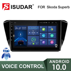 ISUDAR V57S 2 Din Android 10 Car Radio For Skoda Superb 3 2016- - ISUDAR Official Store