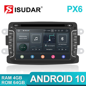 Isudar PX6 1 Din Android 10 Car Radio For Dacia/Duster/Renault/Xray 2/Logan - ISUDAR Official Store