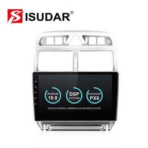 Isudar Voice control PX6 Android 10 1 Din Car Radio For Peugeot 307 2002-2013 - SEO Optimizer Test