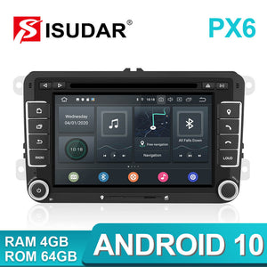 Isudar 7 inch Auto radio 2 Din PX6 For VW/Golf/Tiguan/Skoda/ - ISUDAR Official Store