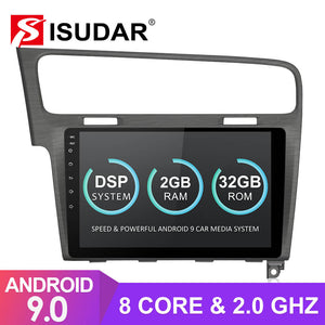 Isudar T8 1 Din Auto Radio Android 9 For VW/Volkswagen/Golf 7 - ISUDAR Official Store