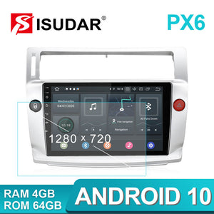 Isudar Voice control PX6 Android 10 1 Din Car Radio For Citroen C4 C-Triomphe C-Quatre 2004-2009 - SEO Optimizer Test