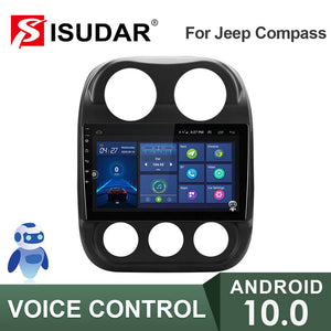 ISUDAR V57S 2 Din Android 10 Car Radio For Jeep Compass 1 MK 2009-2015 - ISUDAR Official Store