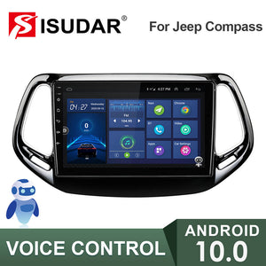 ISUDAR V57S Voice control 2 Din Android 10 Car Radio For Jeep Compass 2 MP 2016 2017 2018 - ISUDAR Official Store