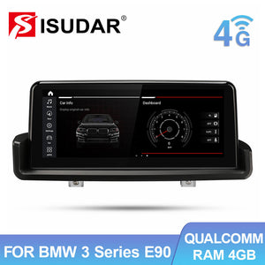 Isudar IPS Screen Idrive Carplay Auto stereo for BMW E90 E91 E92 E93