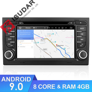 Isudar 2 Din Auto Radio Octa core Android 9 For A4/S4/Audi 2002-2008 - ISUDAR Official Store