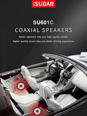 ISUDAR SU601C Car Coaxial Hifi Speakers 2 Pcs 6.5 Inch 2 Way Vehicle Door - SEO Optimizer Test