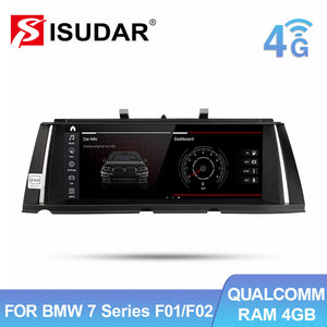 Isudar HD 1920*720P Android 10 Auto radio For BMW For BMW 7 Series F01 F02 CIC NBT 2009-2015