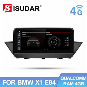 Isudar 4G GPS Stereo Head Unit IPS Screen For BMW X1 E84 2009-2015