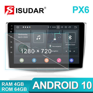 ISUDAR PX6 1 Din Android 10.0 Car Radio For Magotan/CC/Passat B6 B7