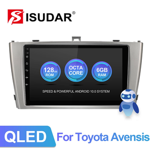 ISUDAR V72 8 core 128G Android 10 For Toyota Avensis GPS