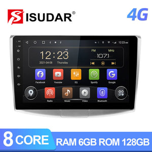 Isudar QLED Android 10 Auto Radio For VW/Volkswagen/Passat B6 B7 wireless carplay and android auto - ISUDAR Official Store