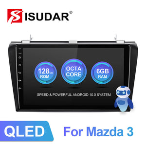 ISUDAR V72 QLED Built in carplay Android 10 Auto Radio For MAZDA 3 2004 2005 2006-2009 - ISUDAR Official Store