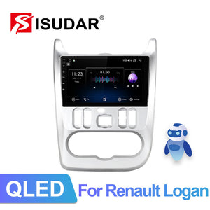 ISUDAR 4G Net QLED Car Radio For Renault Logan 1 Sandero Lada Lergus largus Dacia - ISUDAR Official Store