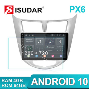 ISUDAR Android 10 4g Auto Radio For Hyundai/Solaris/Verna 2010-2016 - ISUDAR Official Store