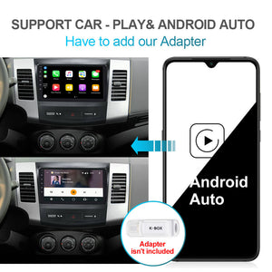 Isudar GPS 6 Core PX6 Android10 1 Din Auto Radio For Mitsubishi Outlander 2 2005-2011 - ISUDAR Official Store