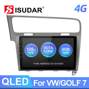 Isudar QLED Android 10 Auto Radio For VW/Volkswagen/Golf 7 2013- wireless carplay - ISUDAR Official Store