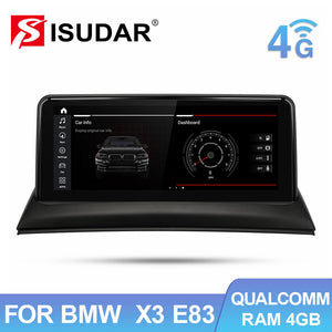 Isudar Qualcomm Car Multimedia For BMW X3 E83 Android 10.0 - ISUDAR Official Store