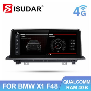 Qualcomn Snapdragon Car Multimedia Player For BMW X1 F48 2016-2017  Android 10