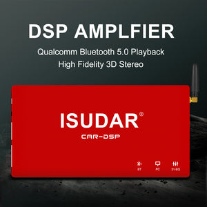 ISUDAR DA08 Car Amplifier DSP 1200W MAX AB Class 8 Channels Input - ISUDAR Official Store