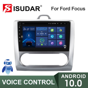 ISUDAR V57S Voice Control 2 Din Android Auto Radio For Ford/Focus 2 Mk 2 2004-2011