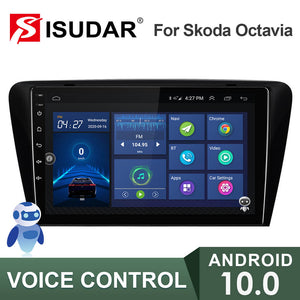 ISUDAR V57S 2 Din Android 10 Car Radio For Skoda/Octavia 2014- - ISUDAR Official Store