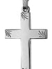 Cross Sterling Silver - Religious  approx 27mm x17mm Engraved