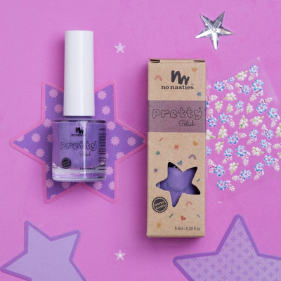 PURPLE WATER-BASED PEELABLE NAIL POLISH WITH NAIL STICKERS