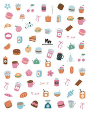 Fun Nail Stickers | Tea Time