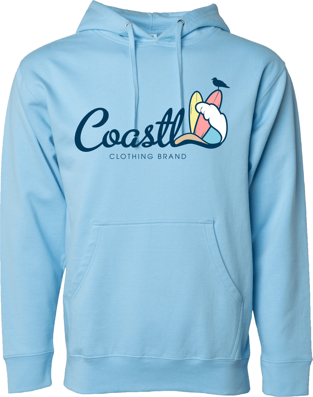 COASTL Blue Aqua Wave Hoodie - COASTL Clothing