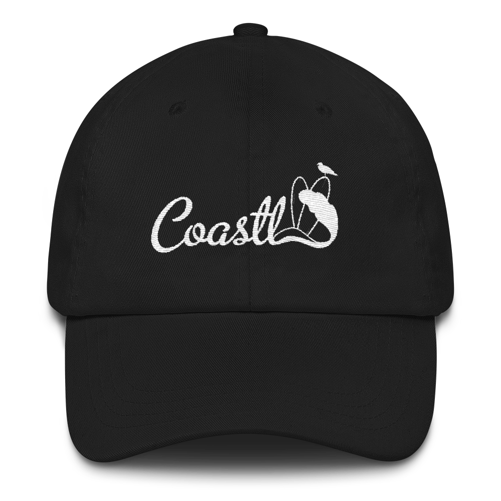 COASTL Ride the Wave Black Dad Cap - COASTL Clothing