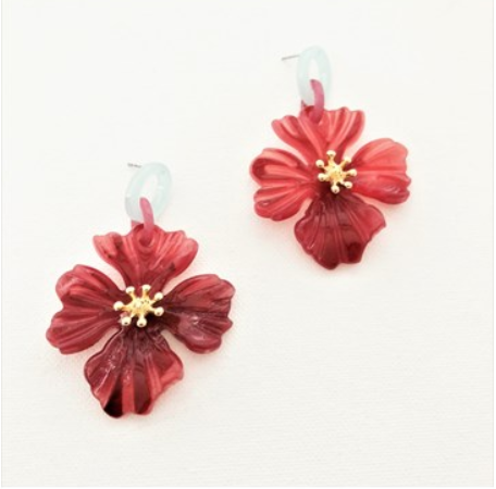 Granada Flora Earrings Pink