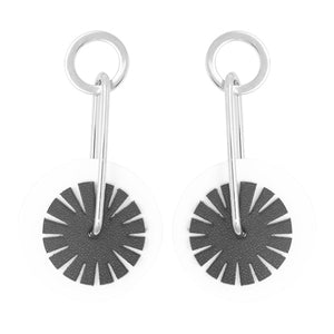 HARLO BLACK/WHITE/SILVER  EARRINGS
