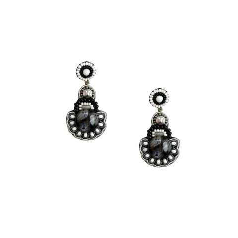 GABRIELLE EARRINGS -BLACK & WHITE