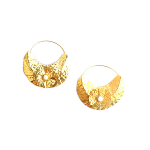 VERA EARRINGS – GOLD/WHITE STONE