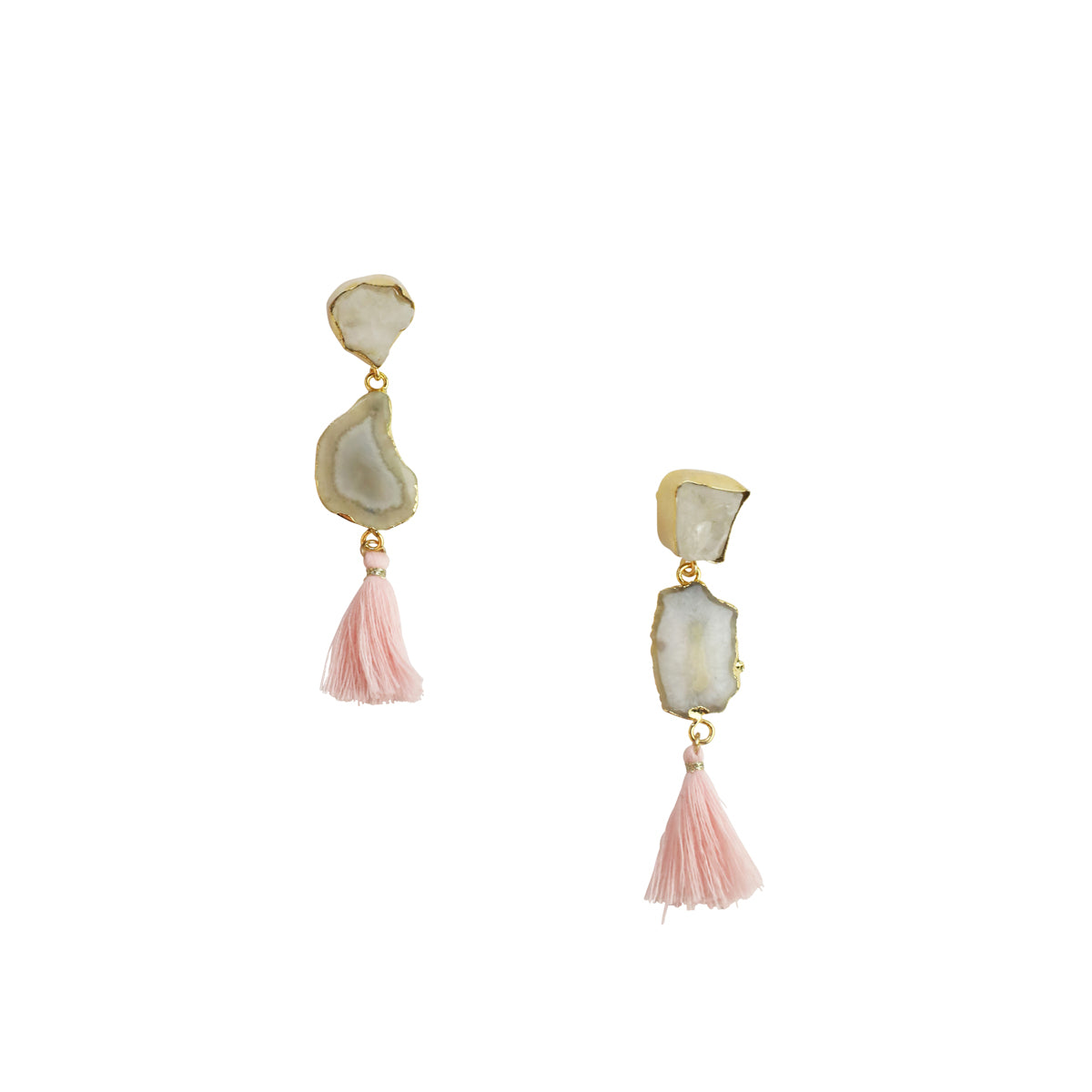 ROYALTA EARRINGS WITH MINT TASSEL