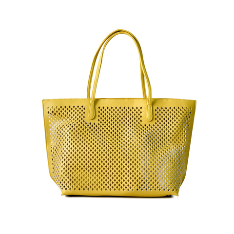 UBIKA DIAMOND CUT YELLOW HANDBAG